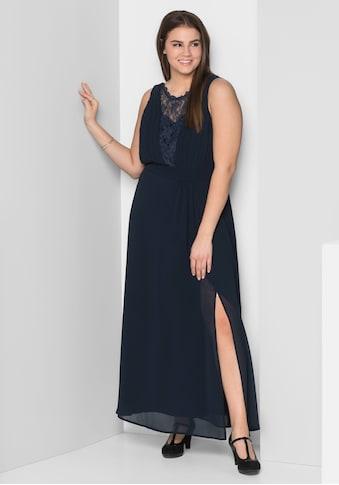 Sheego Abendkleid, mit leicht transparentem Spitzeneinsatz kaufen