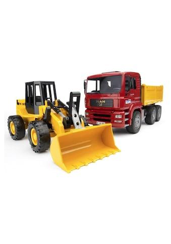 Bruder® Spielzeug-Kipper »Kipplastwagen & Gelenkradlader« kaufen