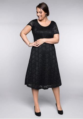 Sheego Spitzenkleid, mit Bodyforming-Effekt und Innenkleid kaufen