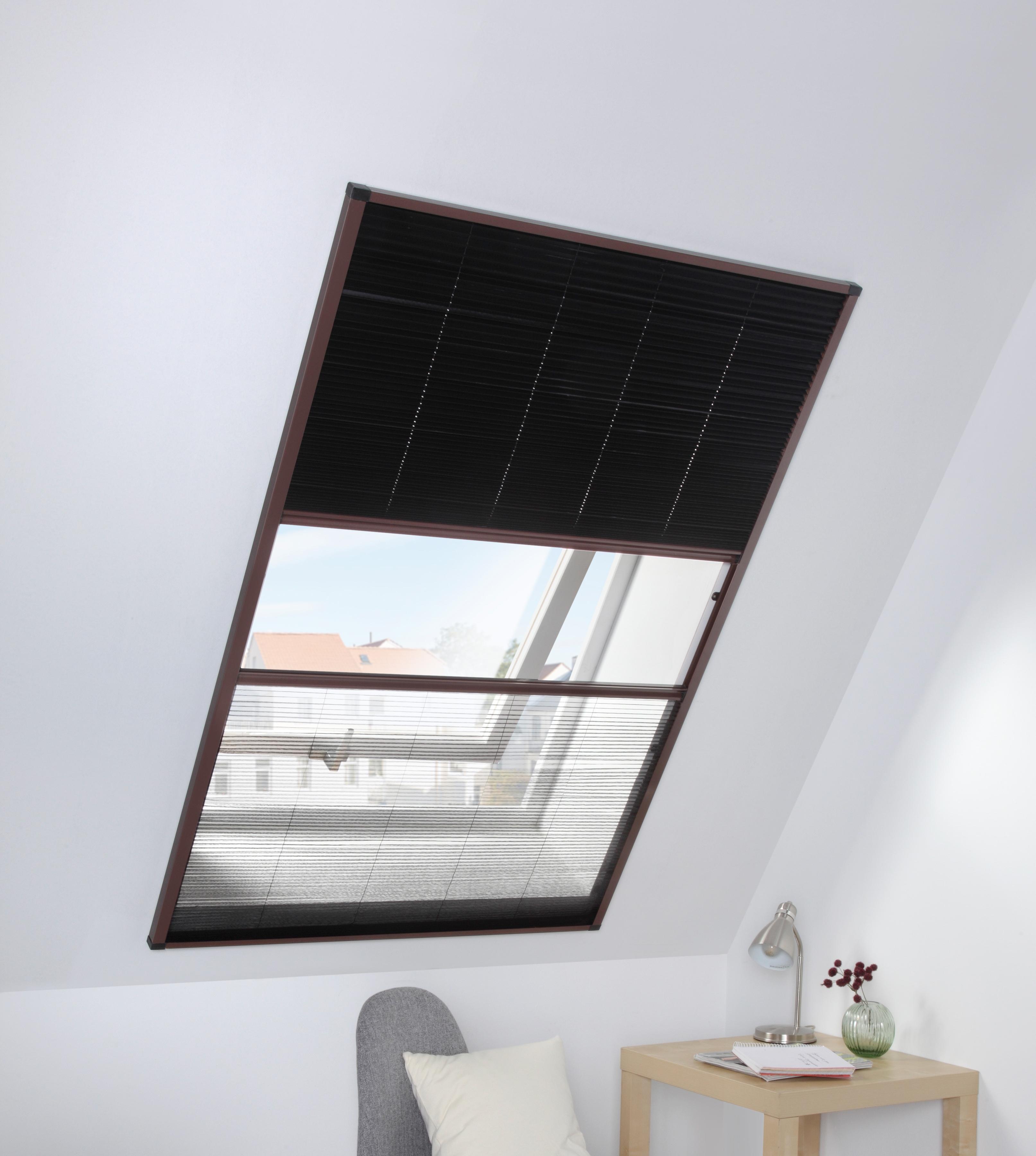 Image of HECHT Dachfensterplissee braun/schwarz, BxH: 110x160 cm