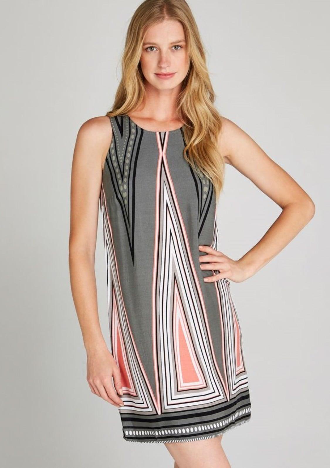 Image of Apricot Etuikleid »Aztec Triangle Shift Dress«