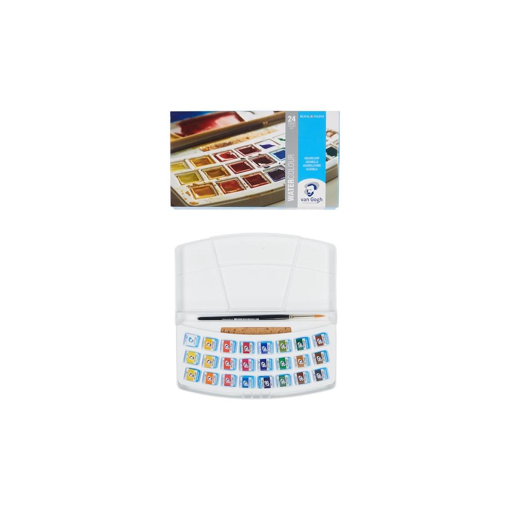 Aquarellfarbe »Malkasten 24er-Set, Mehrfarbig«