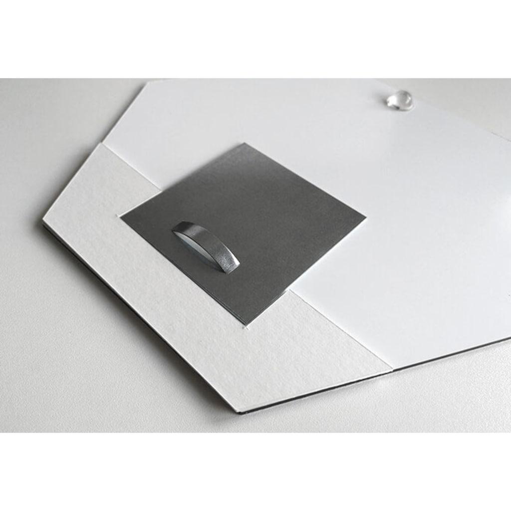 Wall-Art Metallbild »Türschild Sexy Frau im Spiegel«, (1 St.)