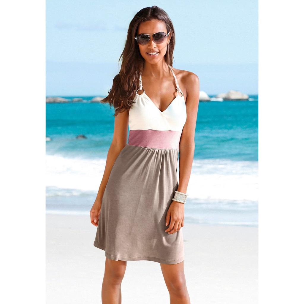 Beachtime Strandkleid, mit Color-Blocking-Optik