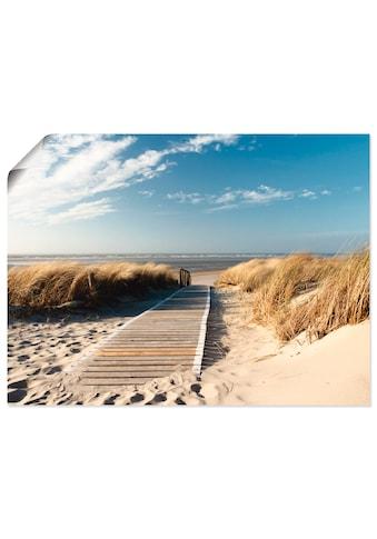 Artland Wandbild »Nordseestrand auf Langeoog - Steg«, Strand, (1 St.) kaufen