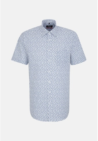seidensticker Businesshemd »Regular«, Regular Kurzarm Covered-Button-Down-Kragen Druck kaufen