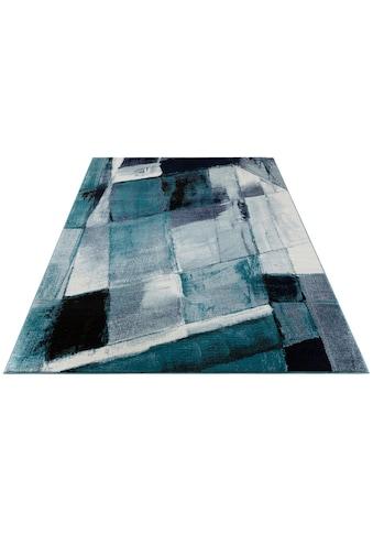 my home Teppich »Pugal«, rechteckig, 11 mm Höhe, modernes Design, Wohnzimmer kaufen