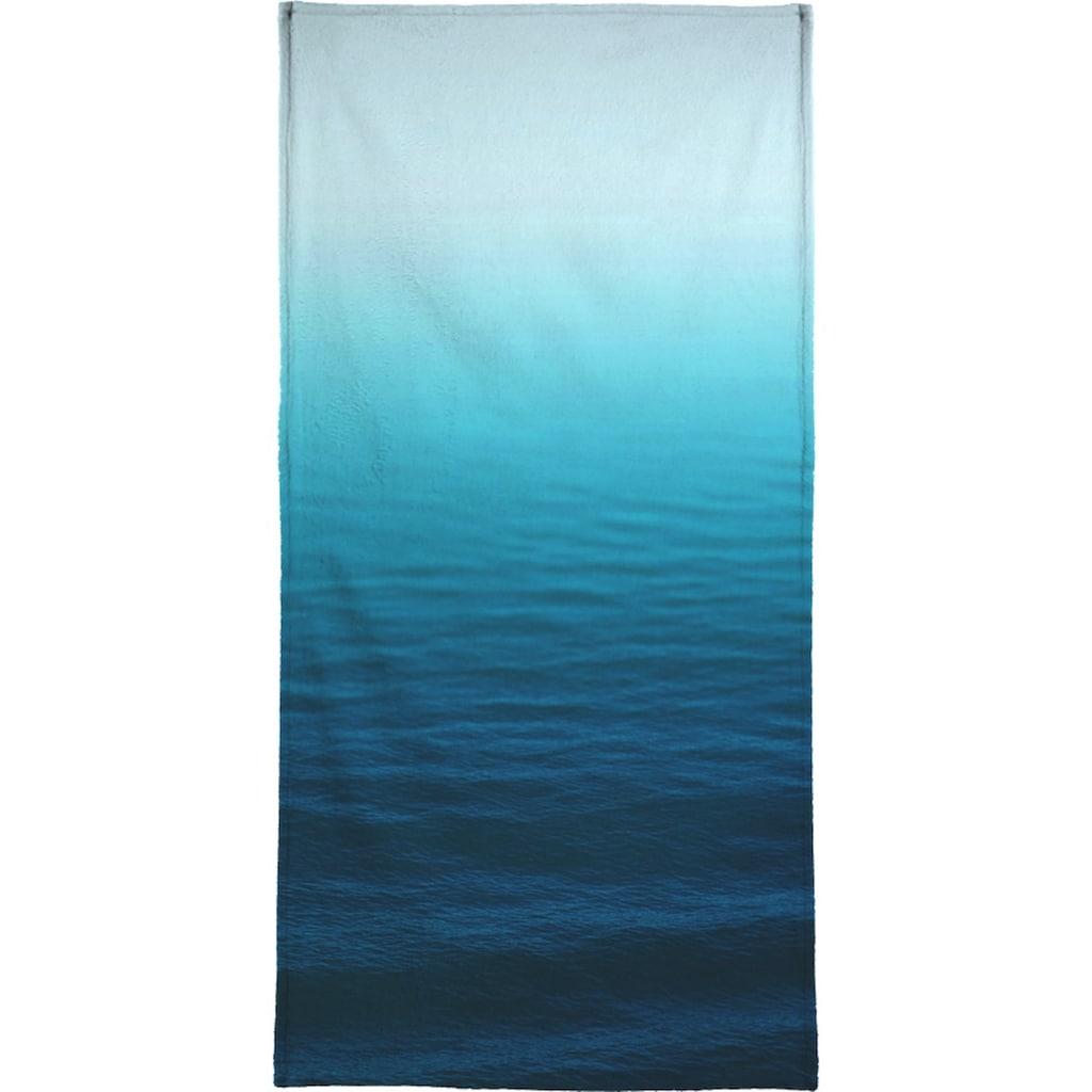 Juniqe Handtuch »Deep Blue«, (1 St.), Weiche Frottee-Veloursqualität