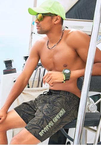 Bruno Banani Badeshorts, mit karibischem Druck kaufen