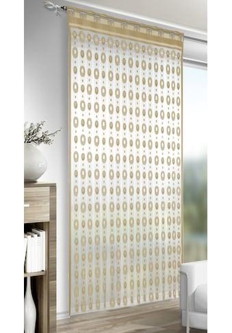 WILLKOMMEN ZUHAUSE by ALBANI GROUP Fadenvorhang »Jano«, Fadenvorhang gemustert kaufen