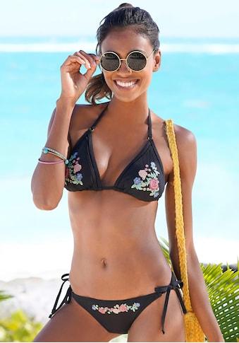 Sunseeker Triangel-Bikini, mit Stickerei kaufen