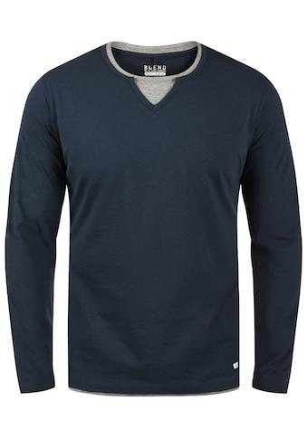Blend Langarmshirt »Leonas«, Longsleeve mit Double-Layer-Optik kaufen