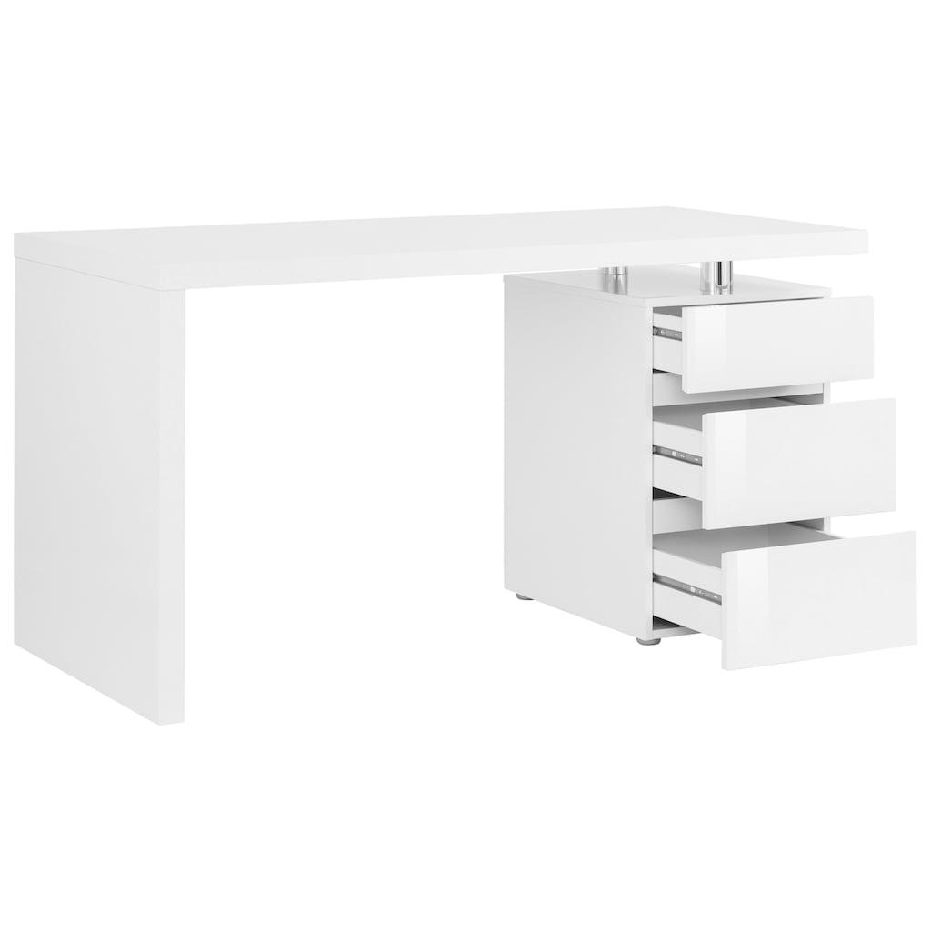 HMW Collection Schreibtisch »Barna«, mit Container und griffloser Optik
