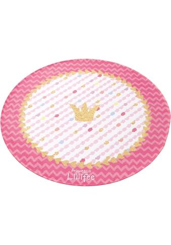 Prinzessin Lillifee Kinderteppich »LI-113«, rund, 6 mm Höhe, bedruckter Stoff, weiche Microfaser kaufen