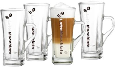 Ritzenhoff & Breker Latte-Macchiato-Glas »Crema«, (Set, 4 tlg., 4 Latte Macchiato... kaufen