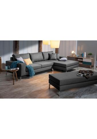 Max Winzer® Ecksofa »Flori«, mit Longchair links oder rechts, inklusive Zierkissen kaufen