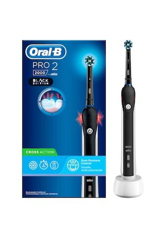 Oral B Elektrische Zahnbürste PRO 2 2000 Black Edition, Aufsteckbürsten: 1 Stk. kaufen