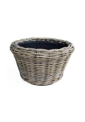 Blumentopf »Jaco Pflanzengefäss Drypot Korb run«, Material: Plastik, Rattan kaufen