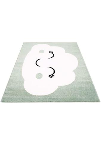 Carpet City Kinderteppich »Bubble Kids 1324«, rechteckig, 11 mm Höhe, Wolken Design, Kurzflor kaufen