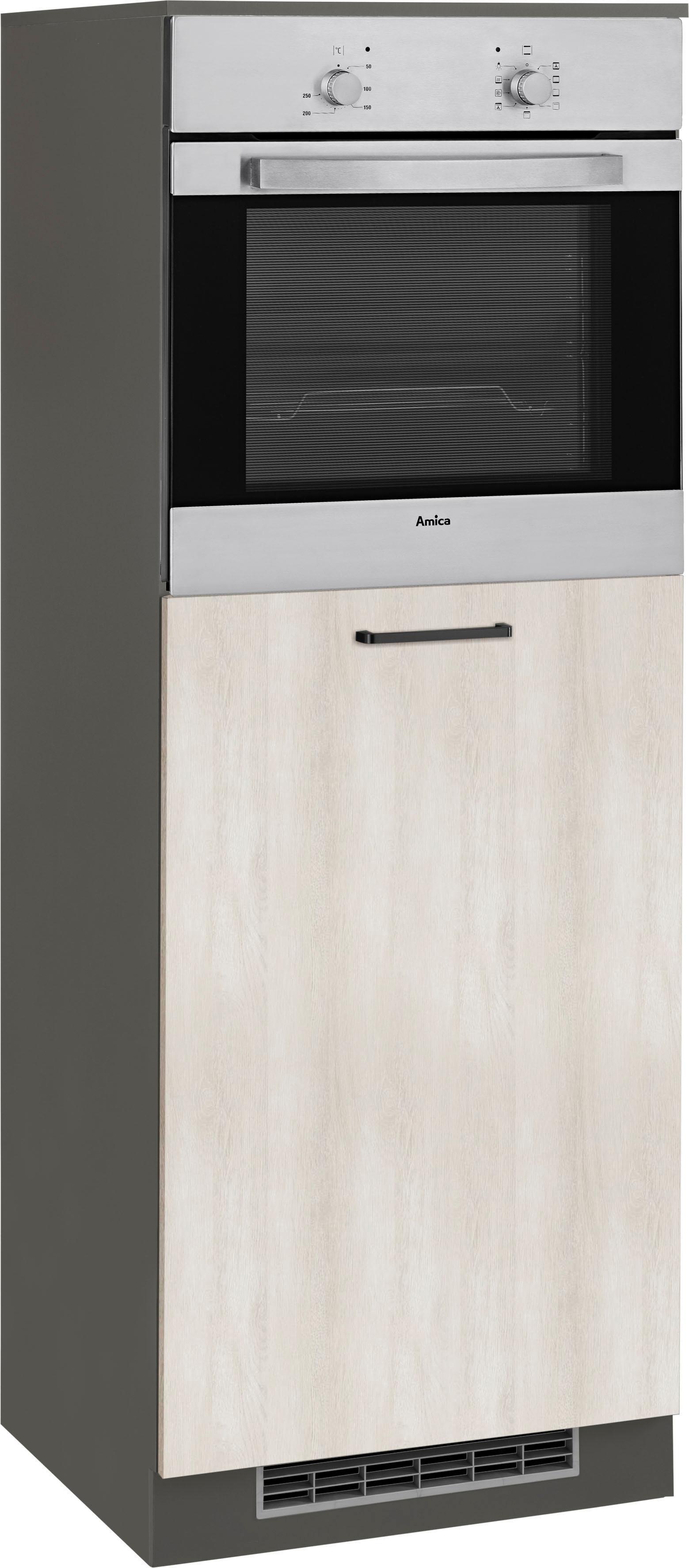 Wiho Küchen Backofen-/Kühlumbauschrank Esbo   Küche und Esszimmer > Küchenelektrogeräte > Herde und Backöffenen   Melamin   Wiho Küchen