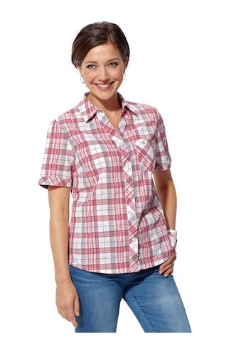 Classic Basics Bluse in bügelfreier Seersucker - Qualität kaufen