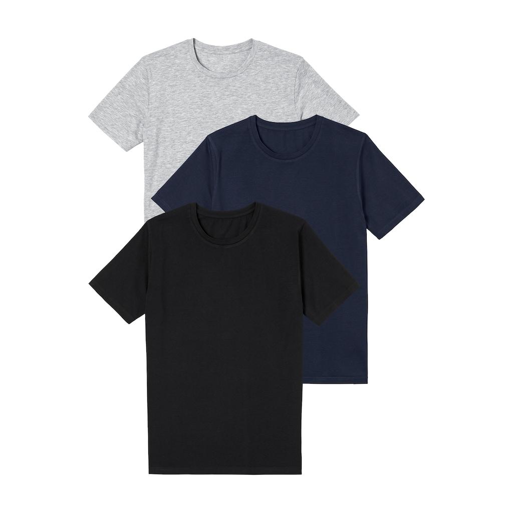 Bench. T-Shirt, super geeignet zum Drunterziehen, perfekte Passform, aus elastischer Baumwolle