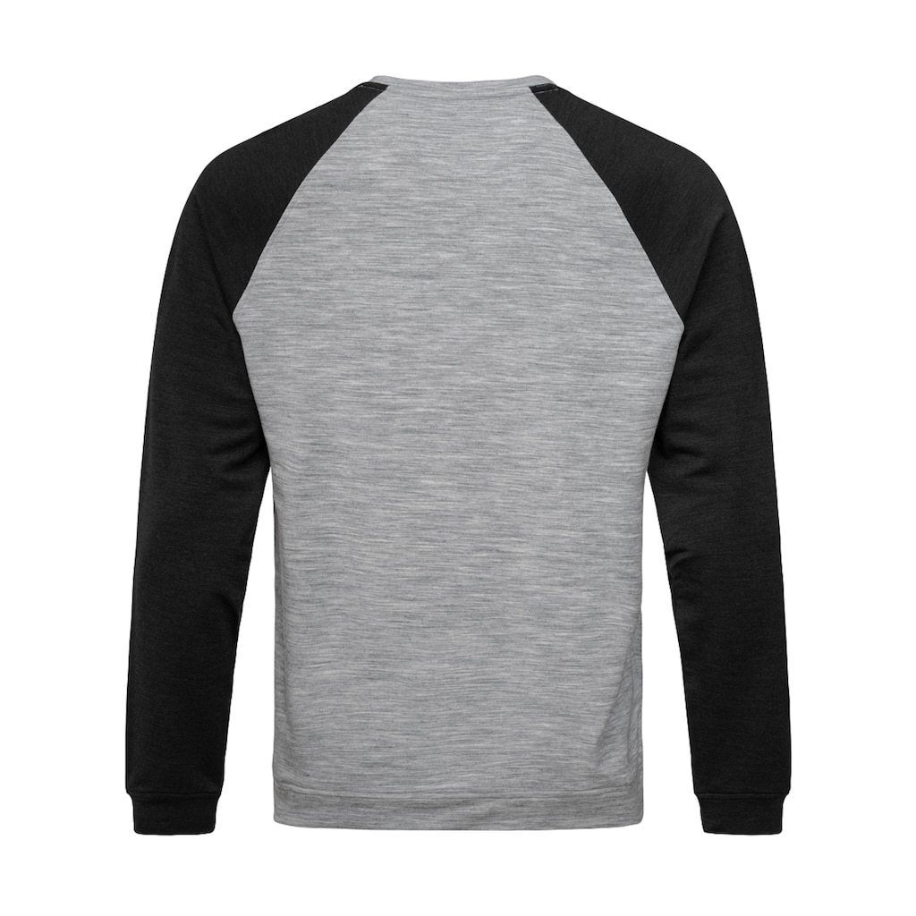 SUPER.NATURAL Sweatshirt »M ESSENTIAL RAGLAN CREW«, perfekter Merino-Materialmix