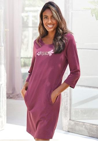 LASCANA Sleepshirt, mit 3/4-Ärmeln und kleinem Frontprint kaufen