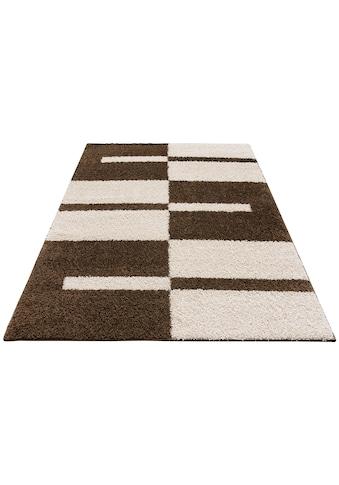 my home Hochflor-Teppich »Gavin«, rechteckig, 30 mm Höhe, grafisches Design, Wohnzimmer kaufen