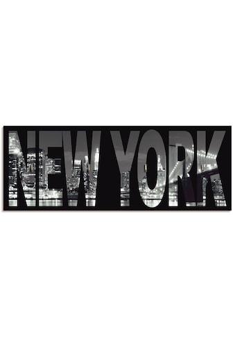 Artland Schlüsselbrett »New York«, aus Holz mit 4 Schlüsselhaken – Schlüsselboard,... kaufen