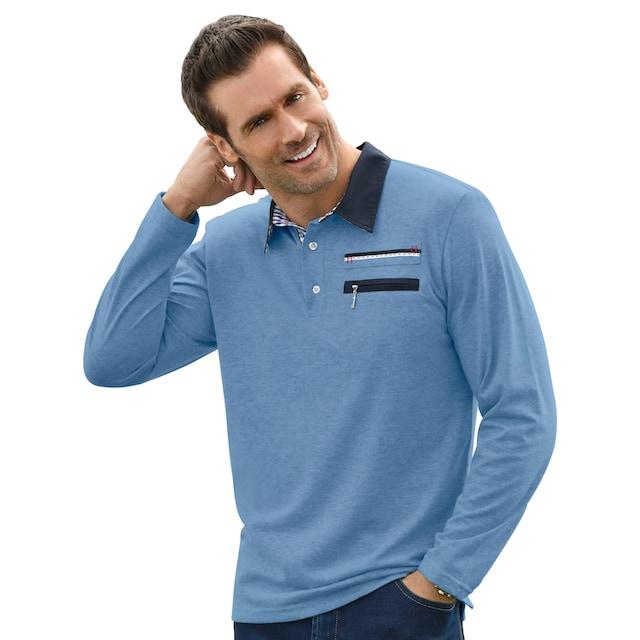 Marco Donati Langarm-Shirt mit konfektioniertem Kragen