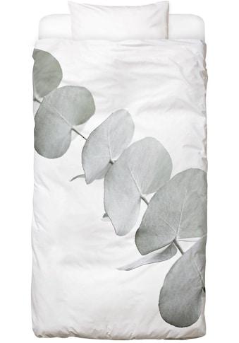 Juniqe Bettwäsche »Eucalyptus White 3«, In vielen weiteren Designs erhältlich kaufen