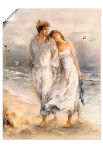 Artland Wandbild »Verliebt«, Paar, (1 St.), in vielen Grössen & Produktarten -Leinwandbild, Poster, Wandaufkleber / Wandtattoo auch für Badezimmer geeignet kaufen