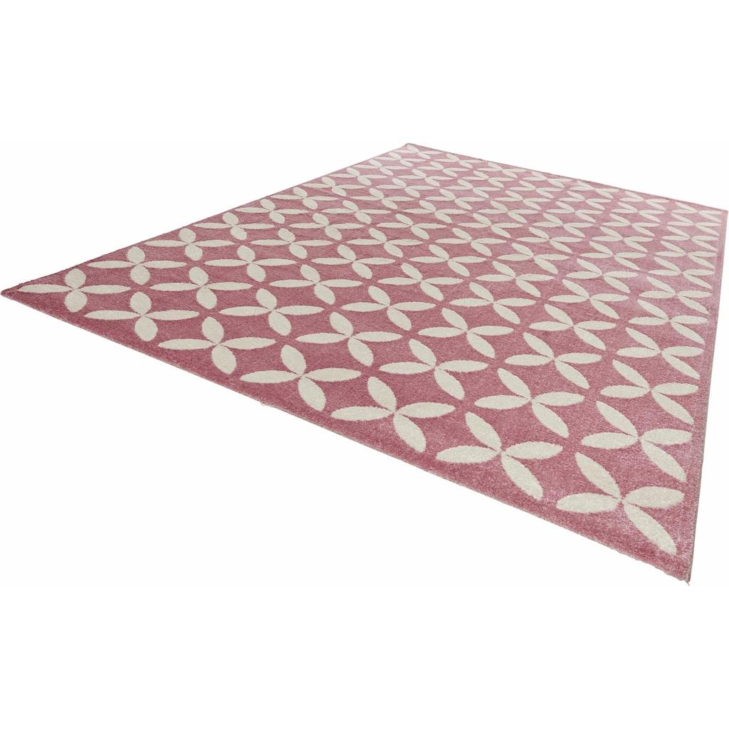 MINT RUGS Teppich »Cross«, rechteckig, 12 mm Höhe, Allover Kurzflor, Wohnzimmer