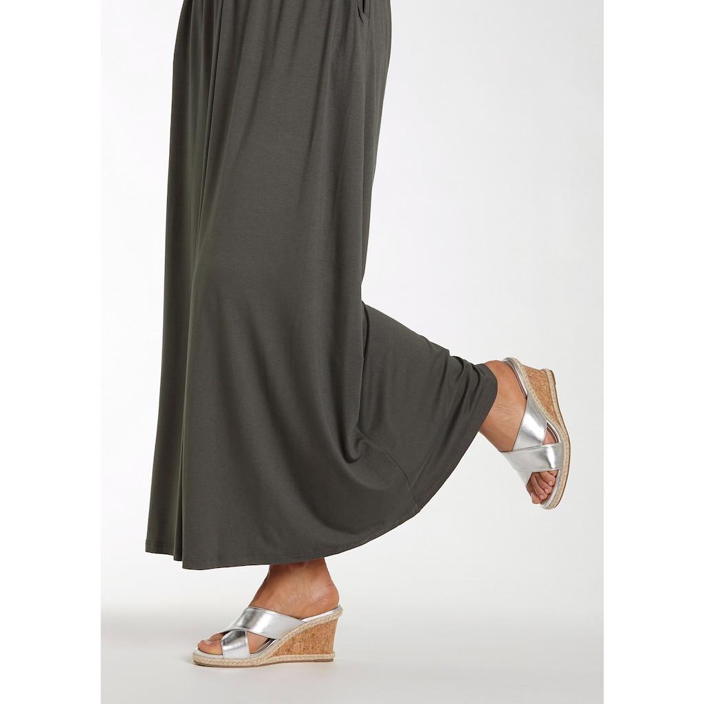 LASCANA High-Heel-Pantolette, mit Keilabsatz in Metallic-Optik