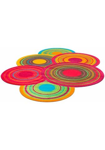 wash+dry by Kleen-Tex Teppich »Cosmic Colours«, stufenförmig, 9 mm Höhe, Wohnzimmer kaufen