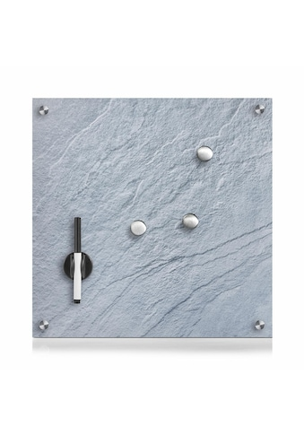 Zeller Present Pinnwand »Schiefer«, Glas, grau 40x40 kaufen