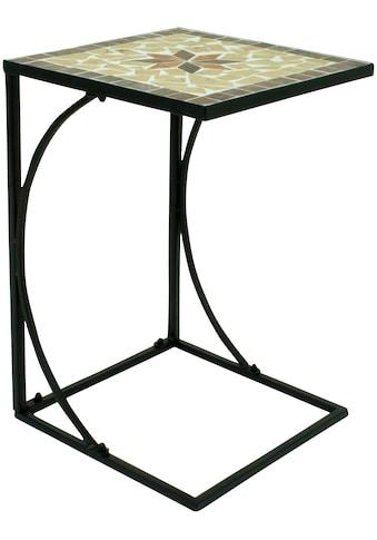 GARDEN PLEASURE Beistelltisch »Amarillo«, Stahl / Mosaik, 35x35 cm kaufen