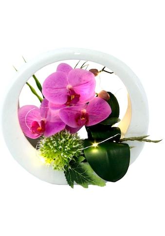 I.GE.A. Kunstorchidee »Orchidee«, im Keramiktopf, mit LED-Beleuchtung kaufen