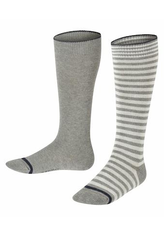 Esprit Kniestrümpfe »Easy Stripe 2-Pack«, (2 Paar), aus Baumwolle kaufen