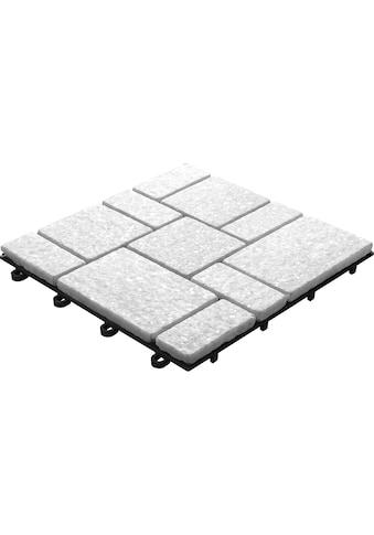 florco® Terrassenplatten »Quarz weiss 30 x 30, 4 Stk.« kaufen