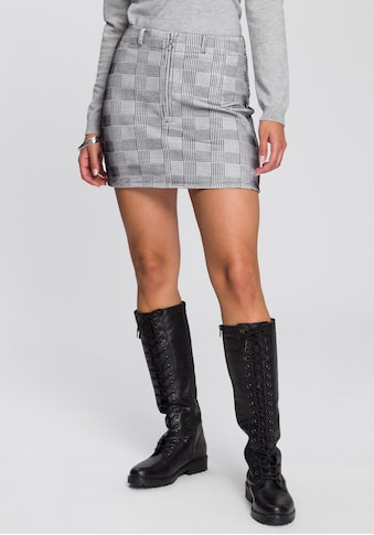 AJC Minirock, im modischn Hahnentritt-Design kaufen