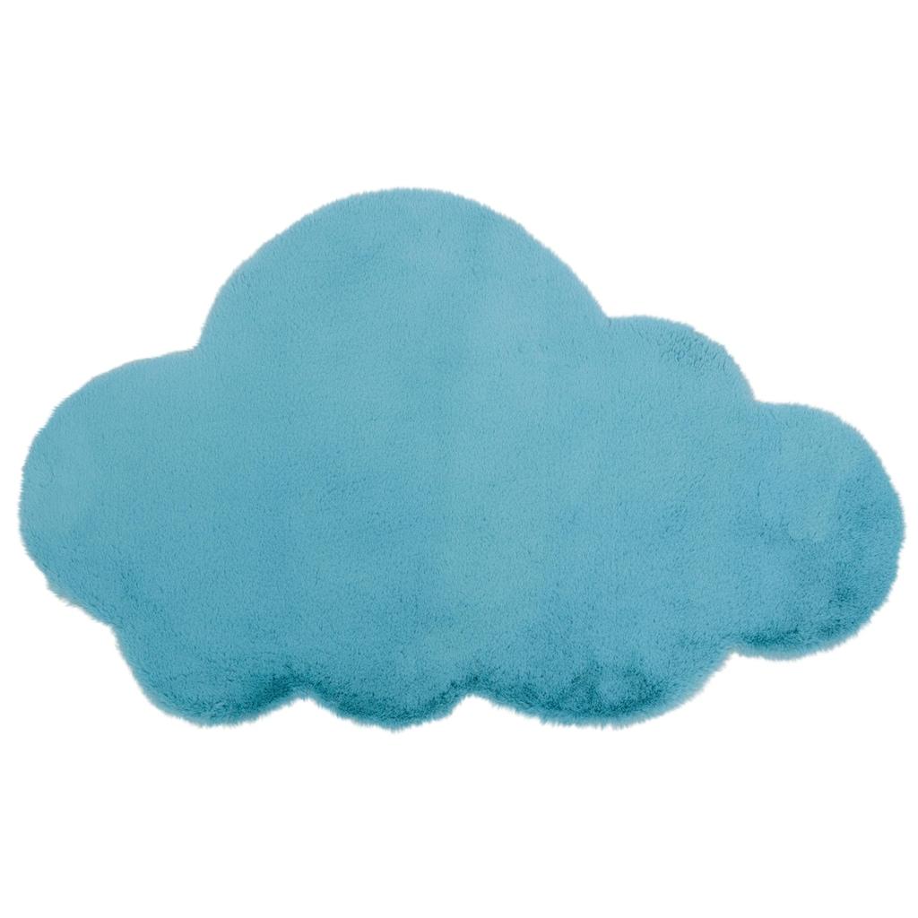 Lüttenhütt Kinderteppich »Wolke«, wolkenförmig, 25 mm Höhe, Kaninchenfell-Haptik