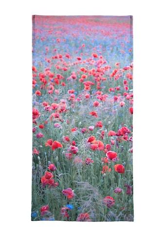Juniqe Strandtuch »Poppy Seed Heaven«, (1 St.), Weiche Frottee-Veloursqualität kaufen