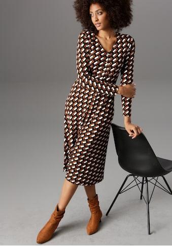 Aniston SELECTED Jerseykleid, mit Knopfleiste kaufen