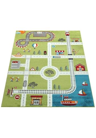Paco Home Kinderteppich »ECE Strasse 994«, rechteckig, 14 mm Höhe, Kurzflor, Strassen-Spielteppich, Kundenliebling mit 5 Sterne-Bewertung! kaufen