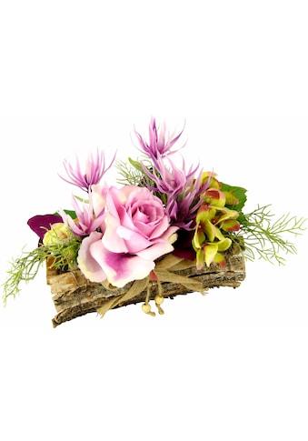 Kunstpflanze »Gesteck Rose in Schale« (1 Stück) kaufen