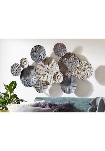 Home affaire Wanddekoobjekt »Caritan«, Wanddeko, Wanddekoration, aus Metall, Used-Optik kaufen