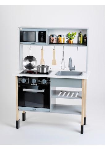 Klein Spielküche »Miele«, mit Zubehör aus Holz und Metall, FSC®-Holz aus gewissenhaft... kaufen