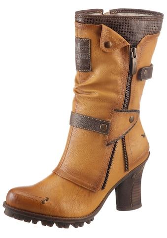 Mustang Shoes Winterstiefel, mit Zierrreissverschluss an der Aussenseite kaufen